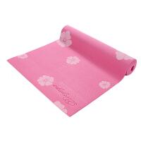 [当当自营]皮尔瑜伽 PVC6mm印花防滑瑜伽垫玫红花 (附带背包)
