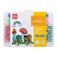 得力(deli) 67845 儿童玩具创意彩泥轻型粘土 12色 当当自营