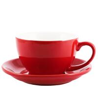欧式陶瓷拿铁咖啡杯加厚卡布奇诺大口拉花咖啡杯碟套装300ml