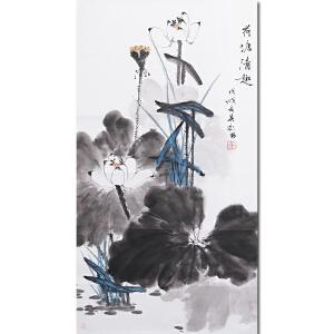 新文人画派 中国花鸟研究会副会长 杨其彬先生作品――荷塘清趣