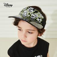 超品日【119元4件】迪士尼男童夏季新款遮阳太阳帽2021新款儿童太阳帽防晒遮阳帽子