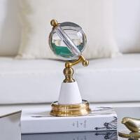 欧式水晶球地球仪摆件商务办公书房客厅创意摆件轻奢礼物家居饰品 水晶球地球仪