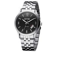 2017新款 EYKI/艾奇机械表 商务时尚表 日历夜光手表 精钢男表 8553黑色