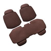 汽车坐垫三件套亚麻夏季透气奔驰宝马奥迪四季通用无靠背单片座垫