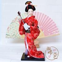 2019新品1个日本艺人偶娃娃30CM日式摆件和风家居装饰礼品和服绢人