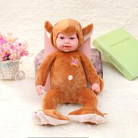 软胶宝宝仿真睡眠安抚娃娃宝宝儿童生日礼物婴儿毛绒玩具家政早教
