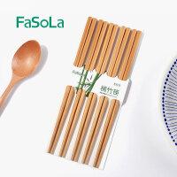 FaSoLa 筷子套装 家用日式筷上等楠竹健康家庭装快子竹筷子