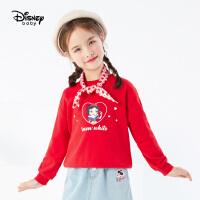 迪士尼女童套头卫衣2021春装新款童装时尚白雪公主儿童宝宝上衣