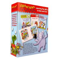 顺丰发货 Alpha Tales 字母故事图画书套装 整套书包含26本字母故事书,用26个吸引人的小故事生动形象地给孩子介绍每一个字母 送音频