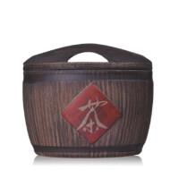 陶瓷故事 仿木茶叶罐 醒茶罐 普洱储存罐 茶道配件