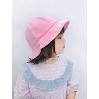 女童休闲盆帽男宝宝个性太阳帽子韩版夏天儿童百搭渔夫帽