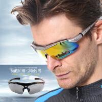 骑行眼镜偏光近视户外太阳镜男女山地车自行车运动装备夜视