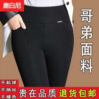 【加绒/不加绒】秋装冬季新款裤子女外穿打底裤大码长裤黑色女裤 S 建议80--90斤