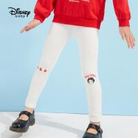 【春新品3折�A估�r:34.8元】迪士尼女童打底�2021春�b新款白色�r尚卡通白雪公主�和������子