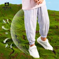 小猪班纳女童裤子宝宝防蚊裤儿童长裤新款夏装洋气休闲裤薄款