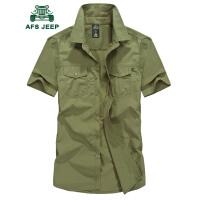 战地吉普AFS JEEP速干短袖衬衫男 夏装大码宽松速干透气衬衣 速干半袖衬衫潮