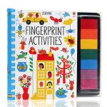 手指印画活动书 英文原版 Fingerprint Activities 儿童创意绘画DIY 动物元素Usborne出品