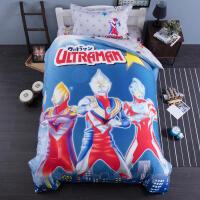 四件套儿童全棉磨毛床单笠被套纯棉1.5m床品卡通男孩奥特曼三件套定制