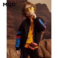MQD男童套装加绒加厚2019新款冬装中儿童保暖两件套