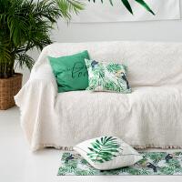 北欧沙发布纯色沙发巾全盖布沙发布单沙发套ins单双人沙发笠沙发