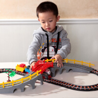 橙爱立昕 火车电动轨道火车玩具组合 儿童玩具益智拼搭 3-6岁男孩礼物