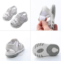 夏季幼儿凉鞋学步鞋宝宝叫叫鞋子0-1-2岁婴儿凉鞋男童软底鞋