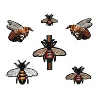 小蜜蜂刺绣衣服布贴补丁贴绣花片DIY个性装饰贴小号破洞修补