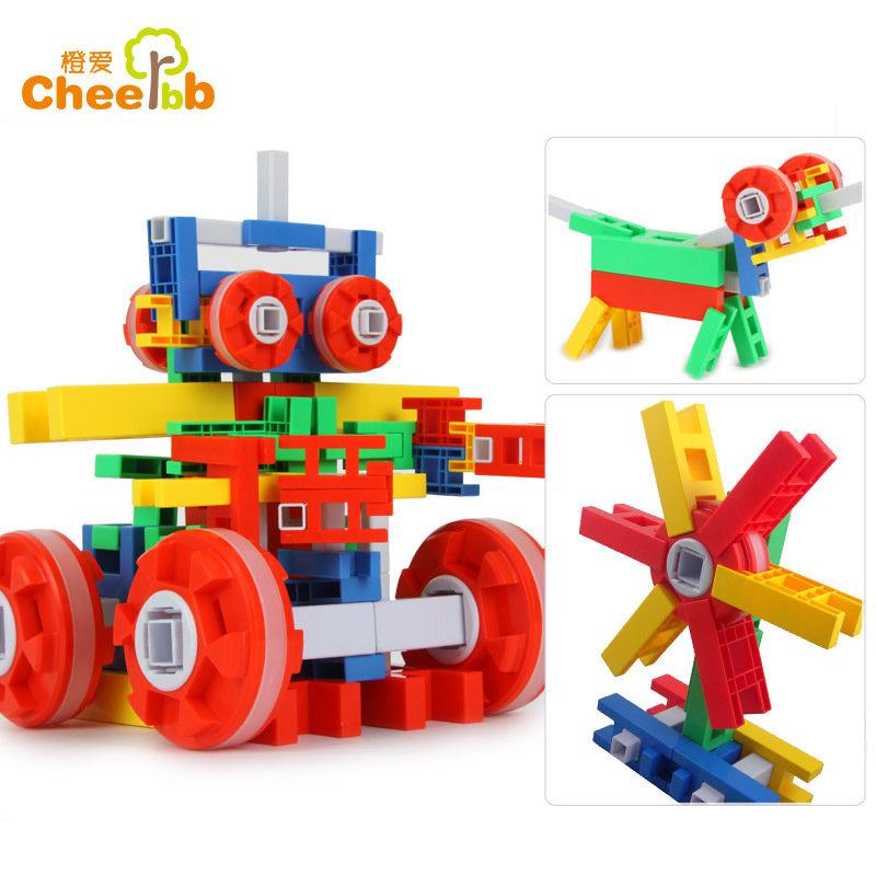 橙爱 启智未来星积木 乐高式塑料拼搭 动手动脑 儿童益智玩具益智玩具限时钜惠
