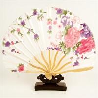 扇子折扇中国风日式樱花和风女夏季随身古典小布扇舞蹈娟扇工艺扇