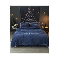 韩版水晶绒四件套天鹅绒宝宝绒法兰绒保暖白色公主风床上用品定制