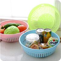 多功能果色镂空洗菜篮厨房用品塑料洗菜盆水果清洗沥水篮