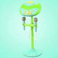 小孩扩音麦克风儿童话筒卡拉ok点歌台唱歌机 音乐男女孩礼物 青草绿【可蓝牙链接】
