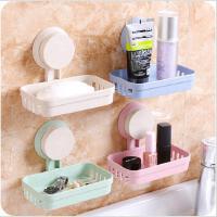 创意卫生间吸盘皂盒浴室塑料香皂盒镂空壁挂置物沥水肥皂架