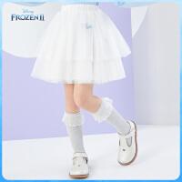 【2件2.4折价:66.9元】迪士尼女童甜美网纱半身裙2021春装洋气儿童宝宝时尚童装短裙