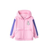 【到手价168】安踏儿童装女小童外套2021春季新款女宝宝针织运动上衣362119719