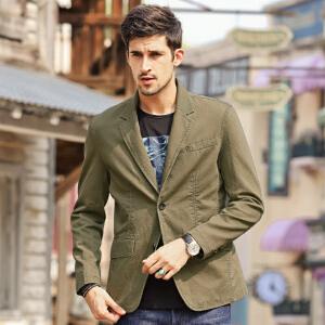 骆驼男装正品 休闲西装 男外套西服 便服单西 纯色工装休闲便装