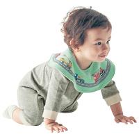 婴儿口水巾围嘴360度旋转口水巾圆形棉质围兜吸水三色组围脖