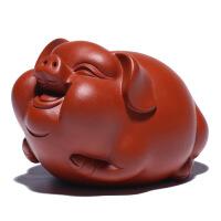 紫砂茶宠摆件 精品可养招财可爱猪迷你茶玩 功夫茶具 创意茶道摆设