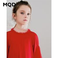 MQD童装女童网纱连衣裙2019秋装新款儿童蓬蓬裙公主裙子女