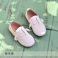 女童�涡�公主鞋豆豆�底休�e皮鞋演出鞋小白鞋