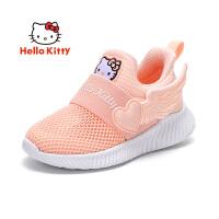 【秒杀价:79元】HelloKitty凯蒂猫童鞋女童运动鞋网鞋夏季新学生旅游跑步鞋网面透气休闲单鞋K0523011