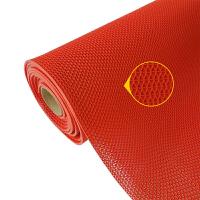裁剪塑料PVC红地毯 浴室地垫家用门垫厨房镂空淋浴厕所漏水防滑垫定制