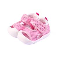 0-1-3岁婴儿宝宝包头护趾软底鞋学步鞋夏季织布鞋子凉鞋