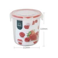 乐扣乐扣保鲜盒NLP311 580ml加热微波圆形餐盒塑料便当盒饭盒 红色