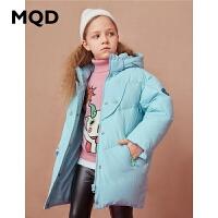 【1件2.5折券后�r:253】MQD童�b女童中�L款三防羽�q服2020冬�b新款�和�加厚保暖羽�q外套