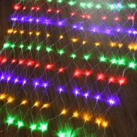 【好货】网状彩灯 led网灯格子渔网状新年树户外水装饰节日小彩灯闪灯串灯满天星Q