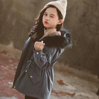 女童秋冬装中长款加厚棉袄外套2019冬季新款儿童中大童洋气棉衣