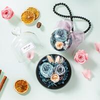 永生花礼盒玻璃罩摆件玫瑰花干花生日情人节母亲节礼物送女友