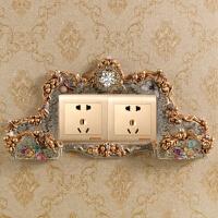 新品客厅开关贴墙贴保护套亚克力创意手机插座家居