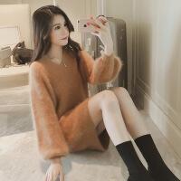 法国小众连衣裙秋冬女装山本风法式少女气质复古初恋毛衣裙子